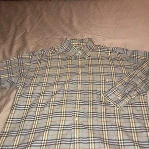 Blue Burberry shirt